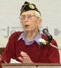 Bert Johnson speaks at Veterans' Day Program