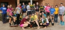 Stephenson volleyball team members plant flowers