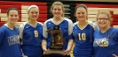 Class D Girls' Volleyball District Championship Team Seniors