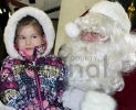 Addison Ross and Santa