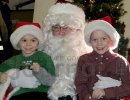 Eli and Hunter Kordish with Santa