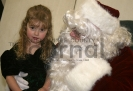 Maggie Berger and Santa