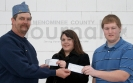 Stephenson Sons of the American Legion present checks