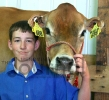 Matt Havelka with Heifer