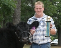 Brent Marcusen and steer