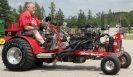 Don Casteel and mini pulling tractor