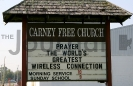 Carney Free Church sign