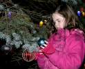 Alayna Strahl Decorates Tree