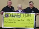 Stephenson Lions Club donation