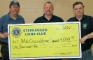 Stephenson Lions Club donate to Rescue Squad