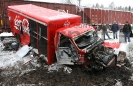 Coca Cola Truck and Train Collision