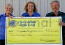 Stephenson Lions Club donate to SHS Golf Team